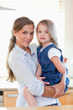 Portrait of a mother and her daughter posing Royalty Free Stock Image