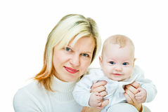 Portrait of mother and her son Royalty Free Stock Images