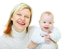 Portrait of mother and her son Stock Images