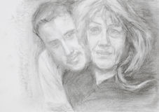 Portrait of mother and her son Stock Image
