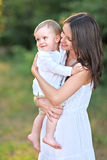 Portrait of mother and little boy Royalty Free Stock Images