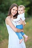 Portrait of mother and little boy Royalty Free Stock Photos