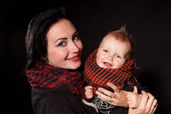 Portrait of a mother and a little boy punks rock Stock Images