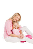 Portrait of mother and little daughter Stock Image
