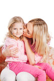 Portrait of mother and little daughter Royalty Free Stock Photo