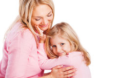 Portrait of mother and little daughter Stock Images