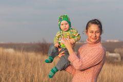 Portrait mother with little son Royalty Free Stock Images