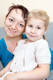 Portrait of mother with small daughter Royalty Free Stock Photos