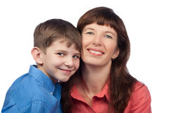 Portrait of mother and son Royalty Free Stock Photos