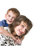 Portrait of mother with son Royalty Free Stock Photos