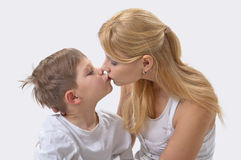 Portrait of  mother and son Royalty Free Stock Images