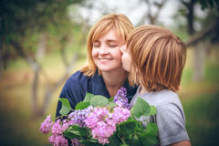 Portrait of mother and son Royalty Free Stock Photo