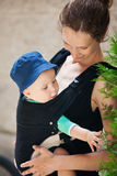 Portrait of mother with son Stock Photos