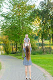 Portrait of mother and son on the nature Royalty Free Stock Image