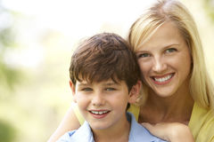 Portrait Of Mother And Son In Park Royalty Free Stock Photography