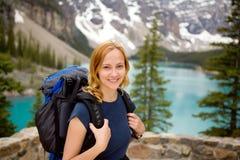 Portrait in Mountain Landscape Stock Photo