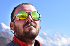 Portrait of a mountaineer Stock Image