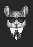 Portrait of Mouse in suit. Stock Images