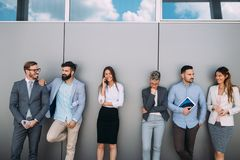 Portrait Of Multi-Cultural Business Team In Office stock photography