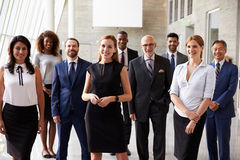 Portrait Of Multi-Cultural Business Team In Office Royalty Free Stock Photos