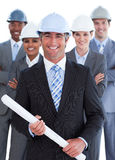 Portrait of multi-ethnic architect team Royalty Free Stock Image