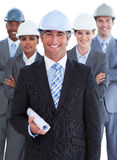 Portrait of multi-ethnic architects team Royalty Free Stock Image