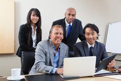 Portrait of multi ethnic business people Stock Image