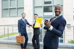 Portrait of multi ethnic  business team Royalty Free Stock Photo