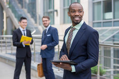 Portrait of multi ethnic  business team Stock Image