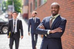 Portrait of multi ethnic  business team Royalty Free Stock Photos