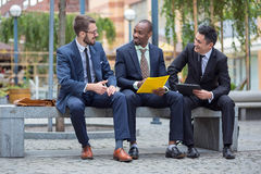 Portrait of multi ethnic business team Royalty Free Stock Image