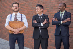 Portrait of multi ethnic business team Stock Photo