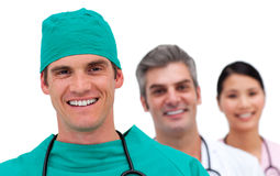 Portrait of a multi-ethnic medical team Stock Photos