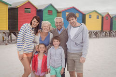 Portrait of multi-generation family at beach Royalty Free Stock Photography
