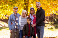 Portrait of multi-generation family at park Royalty Free Stock Photo