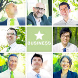 Portrait of Multiethnic Business People Outdoors Royalty Free Stock Photos
