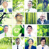 Portrait of Multiethnic Business People Outdoors Stock Photos