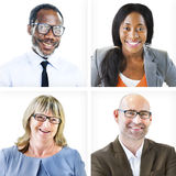 Portrait of Multiethnic Cheerful Business People Stock Photos