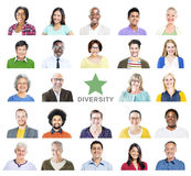 Portrait of Multiethnic Colorful Diverse People Royalty Free Stock Images