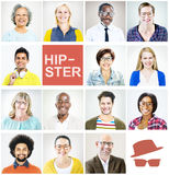 Portrait of Multiethnic Diverse Cheerful Hipsters Royalty Free Stock Photography