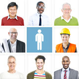 Portrait of Multiethnic Diverse Cheerful Men Royalty Free Stock Image