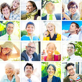 Portrait of Multiethnic Diverse Cheerful People Royalty Free Stock Photo