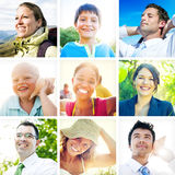 Portrait of Multiethnic Diverse Cheerful People Stock Photos