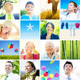 Portrait of Multiethnic Diverse Cheerful People Stock Photography