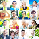 Portrait of Multiethnic Diverse Cheerful People Royalty Free Stock Images