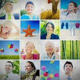 Portrait Multiethnic Diverse Cheerful People Lifestyle Concept Royalty Free Stock Photos