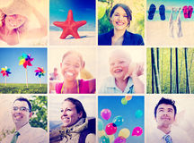 Portrait Multiethnic Diverse Cheerful People Lifestyle Concept Royalty Free Stock Photo