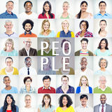 Portrait of Multiethnic Diverse Colorful People Royalty Free Stock Photo
