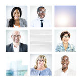Portrait of Multiethnic Diverse Colorful People Royalty Free Stock Photos