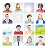 Portrait of Multiethnic Diverse World People Stock Photo